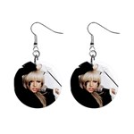 Lady Gaga 1  Button Earrings