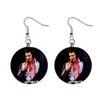 Elvis Presley 1  Button Earrings