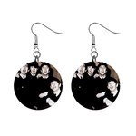 The Beatles 1  Button Earrings