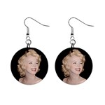 Marilyn Monroe 1  Button Earrings
