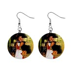 Michael Jackson 1  Button Earrings