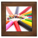 Color Pencil custom Framed Tile