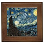 VanGogh-starry_night_edit Framed Tile