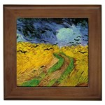 Vincent_van_Gogh_(1853-1890)_-_Wheat_Field_with_Crows_(1890) Framed Tile