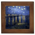 Starry_Night_Over_the_Rhone Framed Tile