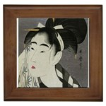 Ase_o_fuku_onna2 copy Framed Tile