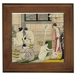 Kiyonaga Bathhouse Women Framed Tile