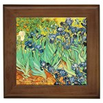 Irises,_1889,_Vincent_Van_Gogh Framed Tile
