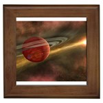 Saturn-paint Framed Tile