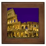The Colosseum at Night, Rome, Italy Framed Tile