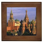St. Basil s Cathedral and Kremlin, Moscow, Russia Framed Tile
