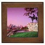 Scout Sculpture, Kansas City, Missouri Framed Tile