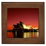 Scarlet Night, Sydney Opera House, Sydney, Australia Framed Tile