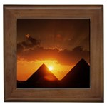 Pyramids At Sunset Framed Tile