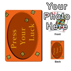 Press Your Luck Deck 1 by Jighm Brown Back 4
