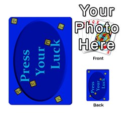 Press Your Luck Deck 2 By Jighm Brown   Multi Purpose Cards (rectangle)   Lol369gdruia   Www Artscow Com Back 21
