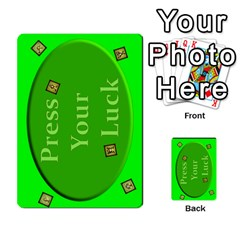 Press Your Luck Deck 3 By Jighm Brown   Multi Purpose Cards (rectangle)   Df3ko85ymqcg   Www Artscow Com Back 52