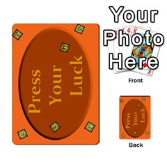 Press Your Luck Deck 3 By Jighm Brown   Multi Purpose Cards (rectangle)   Df3ko85ymqcg   Www Artscow Com Back 53