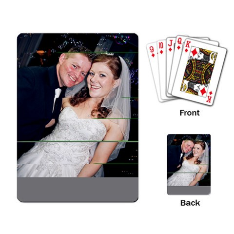 Spres And Karrens Wedding Cards By Jason   Playing Cards Single Design   Lyml8eqrpzc1   Www Artscow Com Back
