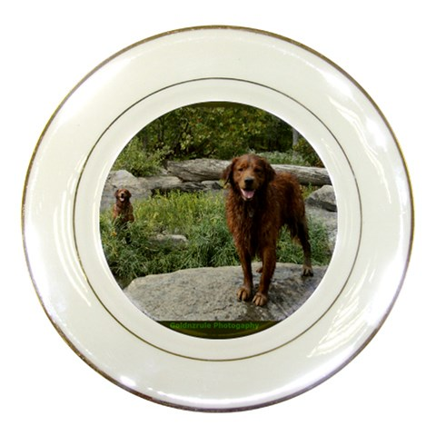 Siblings River Fun By Ellee Neilands   Porcelain Plate   9tel6xdhmbbp   Www Artscow Com Front