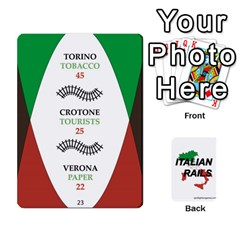 Italian Rails First 54 By Spotlight Games   Playing Cards 54 Designs   Phwd7v1vnz17   Www Artscow Com Front - Diamond8