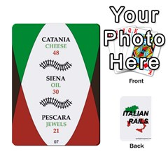 Italian Rails First 54 By Spotlight Games   Playing Cards 54 Designs   Phwd7v1vnz17   Www Artscow Com Front - Spade9