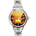 Sun-Set Round Italian Charm Watch