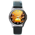 Sun-Set Round Metal Watch