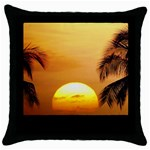 Sun-Set Throw Pillow Case (Black)