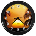 Sun-Set Wall Clock (Black)