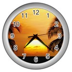 Sun-Set Wall Clock (Silver)