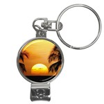 Sun-Set Nail Clippers Key Chain