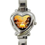 Sun-Set Heart Italian Charm Watch