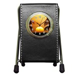 Sun-Set Pen Holder Desk Clock