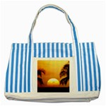 Sun-Set Striped Blue Tote Bag