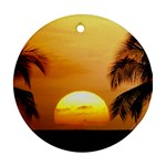 Sun-Set Round Ornament (Two Sides)