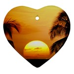 Sun-Set Heart Ornament (Two Sides)