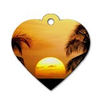 Sun-Set Dog Tag Heart (One Side)