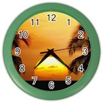 Sun-Set Color Wall Clock