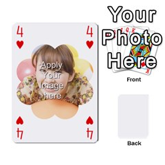 Special 4 Numbers Version By Berry   Playing Cards 54 Designs   Erzsak34ei2l   Www Artscow Com Front - Heart4