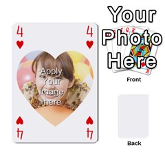 Special 4 Numbers Heart Version By Berry   Playing Cards 54 Designs   Semqqz4z1bym   Www Artscow Com Front - Heart4
