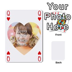 Queen Special 4 Numbers Heart Version By Berry   Playing Cards 54 Designs   Semqqz4z1bym   Www Artscow Com Front - HeartQ