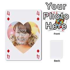 Special 4 Numbers Heart Version By Berry   Playing Cards 54 Designs   Semqqz4z1bym   Www Artscow Com Front - Diamond4