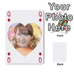 Queen Special 4 Numbers Heart Version By Berry   Playing Cards 54 Designs   Semqqz4z1bym   Www Artscow Com Front - DiamondQ