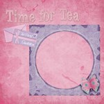 Tea Party Scrapbook Pages 12  x 12  -  Set of 12 - ScrapBook Page 12  x 12