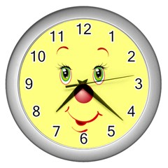 Funny  Wall Clock (Silver) by LJUDIK