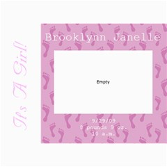 Baby Girl 5x7 Announcements By Klh   5  X 7  Photo Cards   C8irua37l77k   Www Artscow Com 7 x5  Photo Card - 6