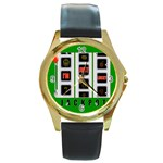 JACKPOT_IMJUSTLUCKY600X600 Round Gold Metal Watch