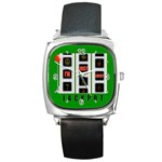 JACKPOT_IMJUSTLUCKY600X600 Square Metal Watch