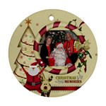 xmasgrannygramps1 - Ornament (Round)